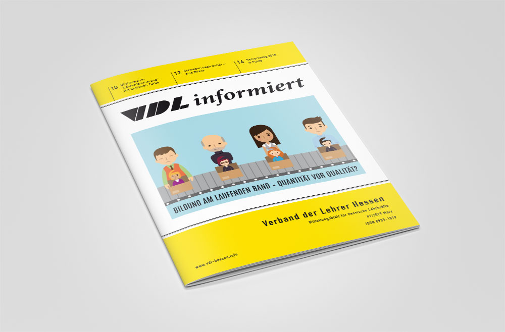 Covergestaltung Magazin