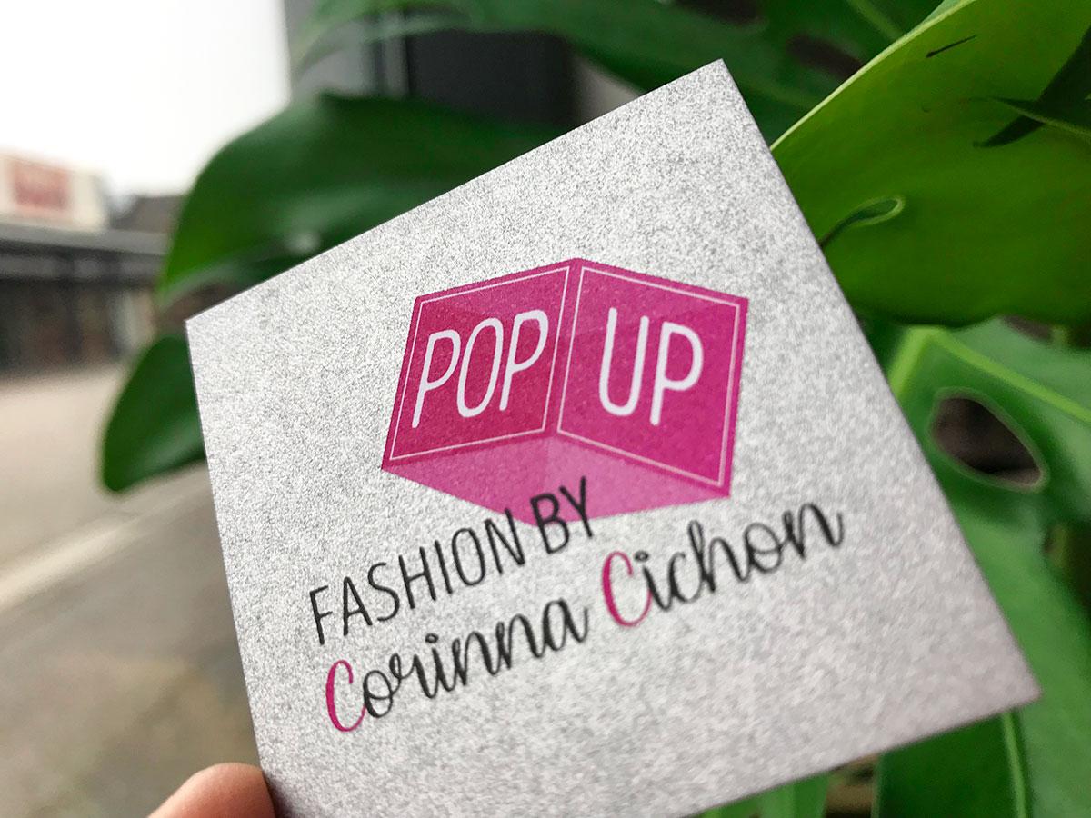 Visitenkarte mit Logo von Corinna Cichon