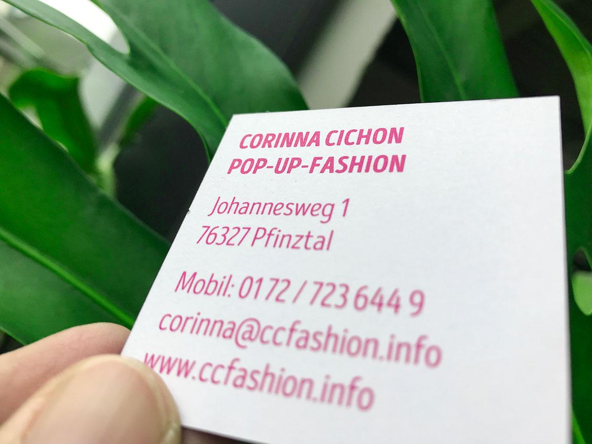 Visitenkarte von Corinna Cichon